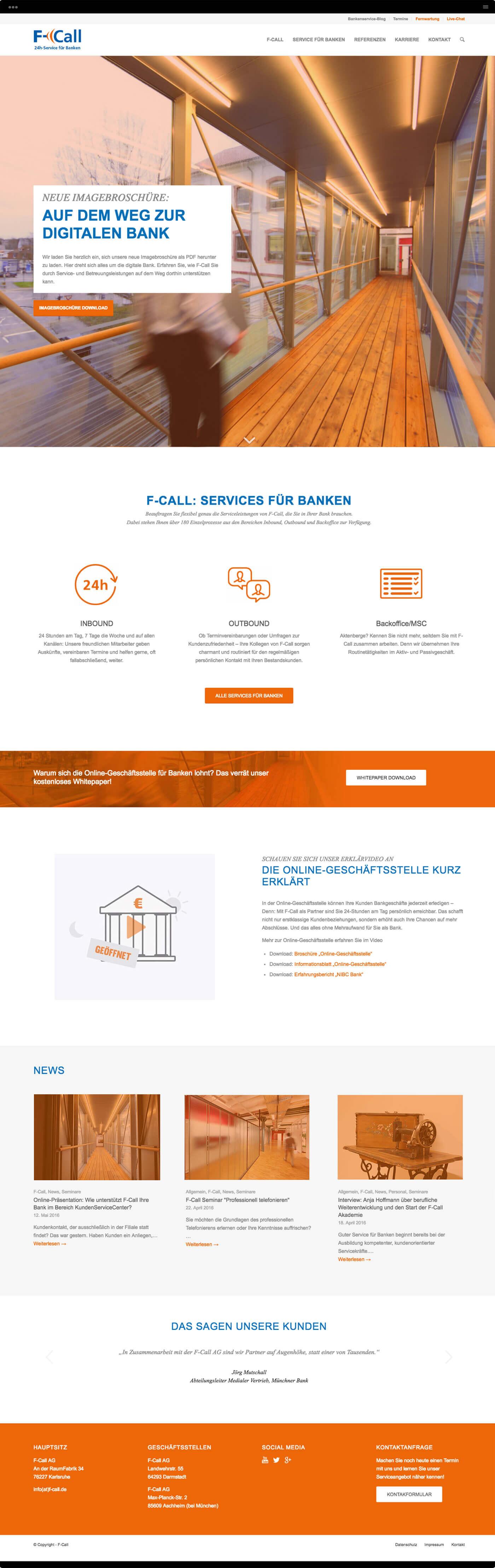 Homepage F-Call