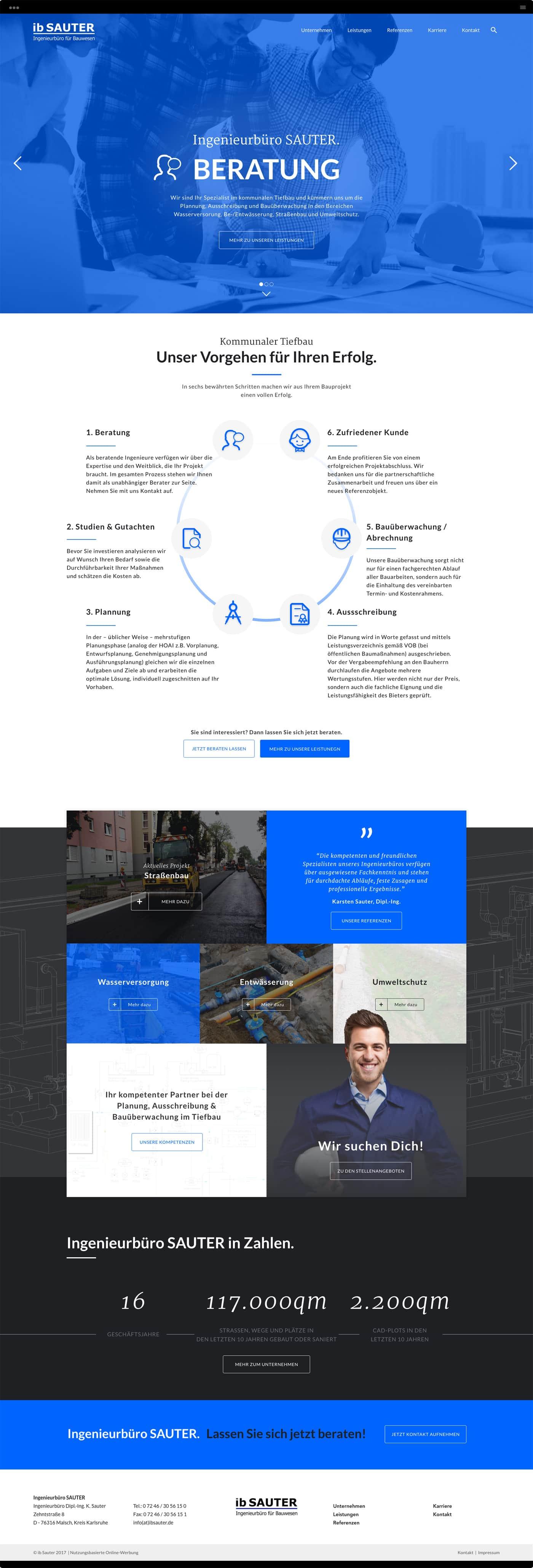 Homepage Ingenieurbüro SAUTER