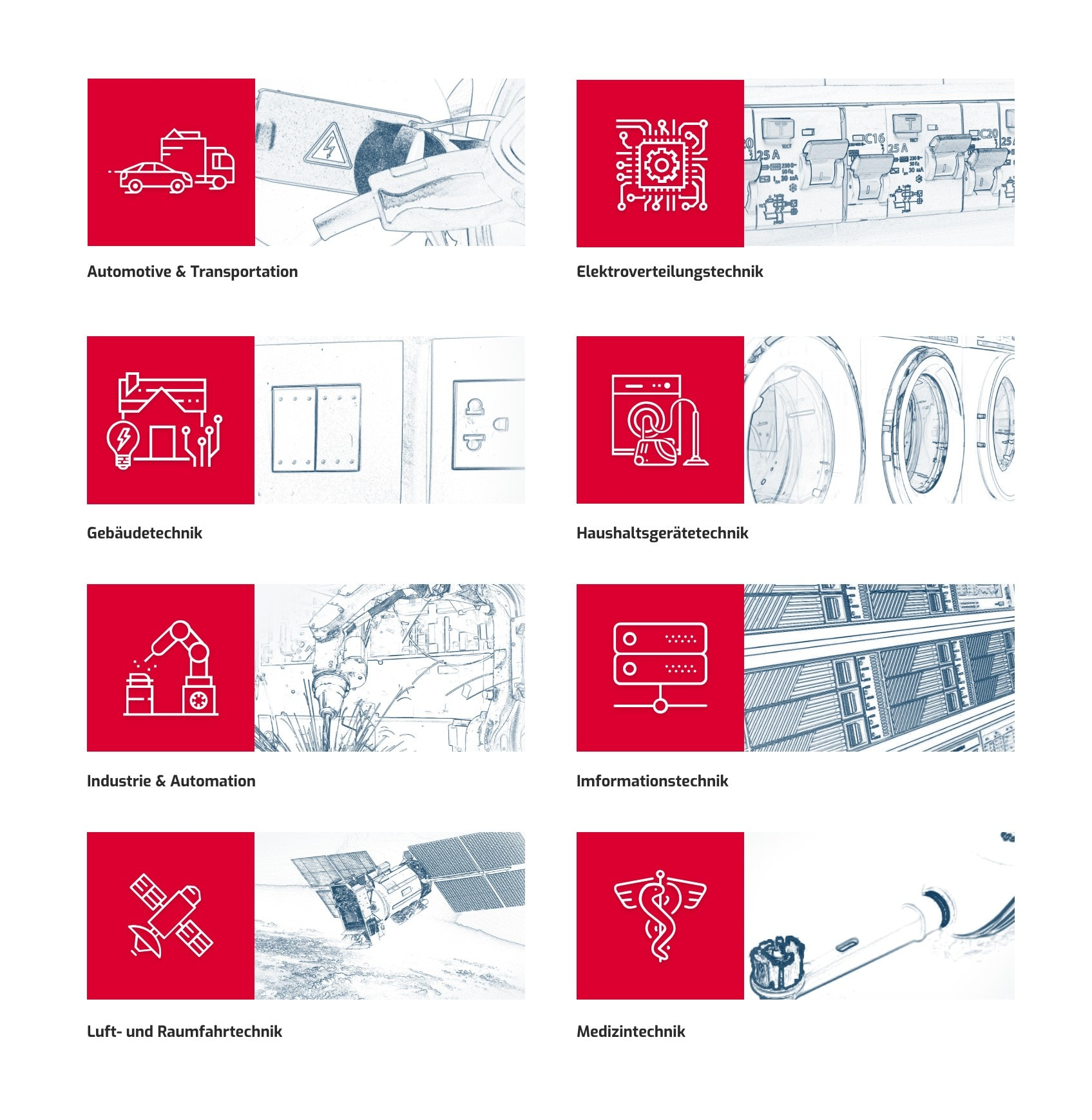 DODUCO GmbH Branchen Icons