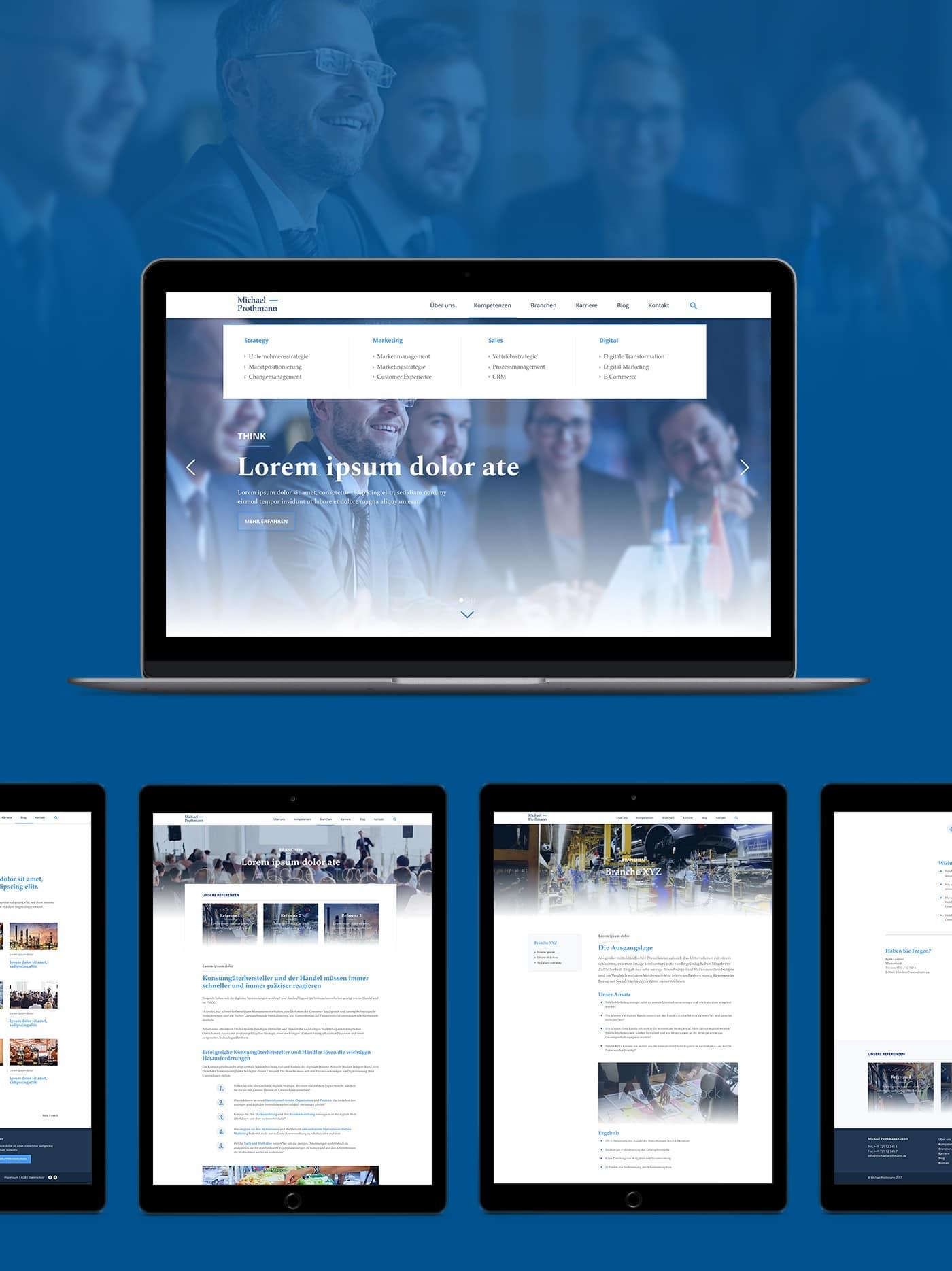 Michael Prothmann Responsive Webseite