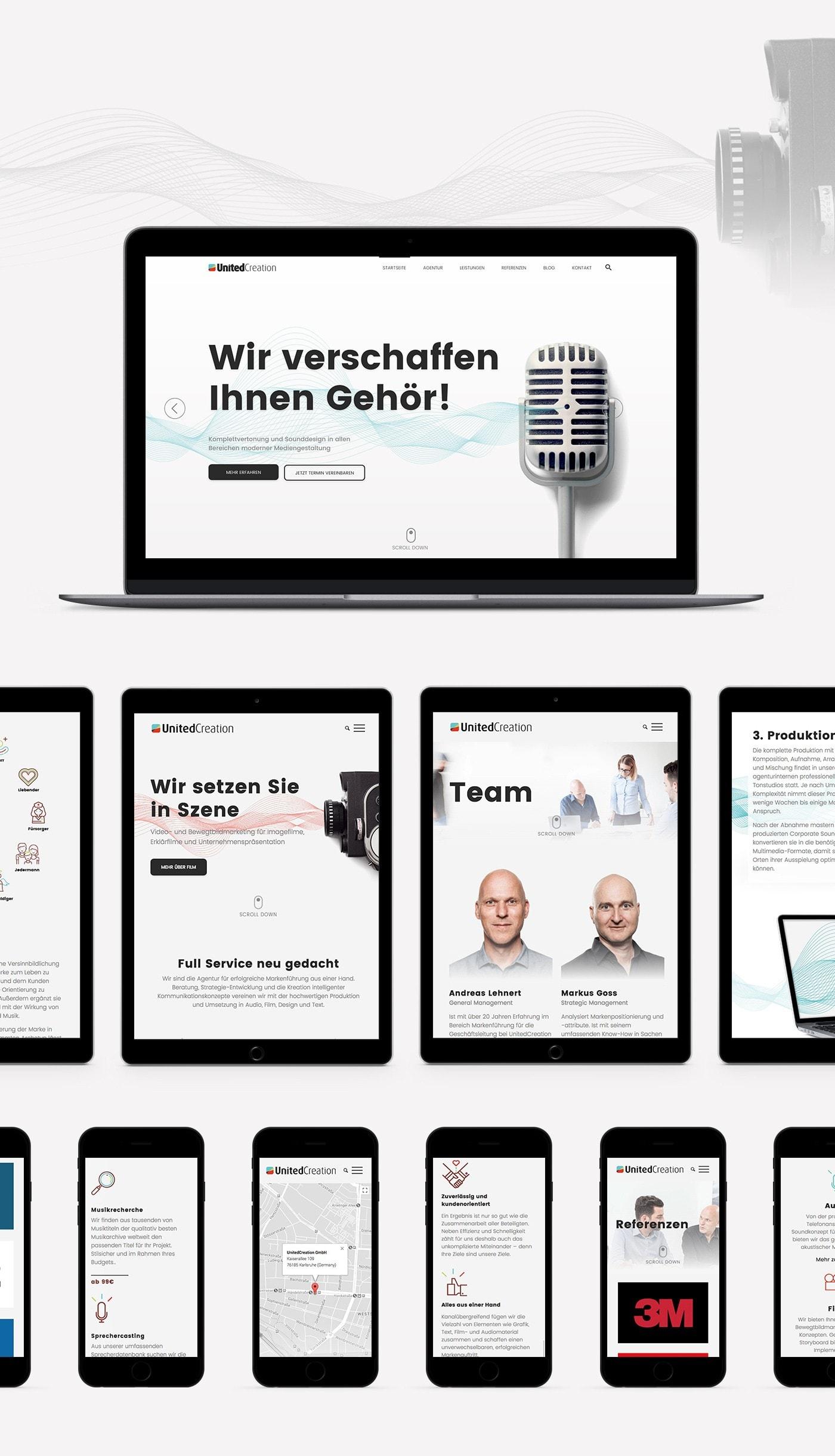 UnitedCreation responsive Webdesign