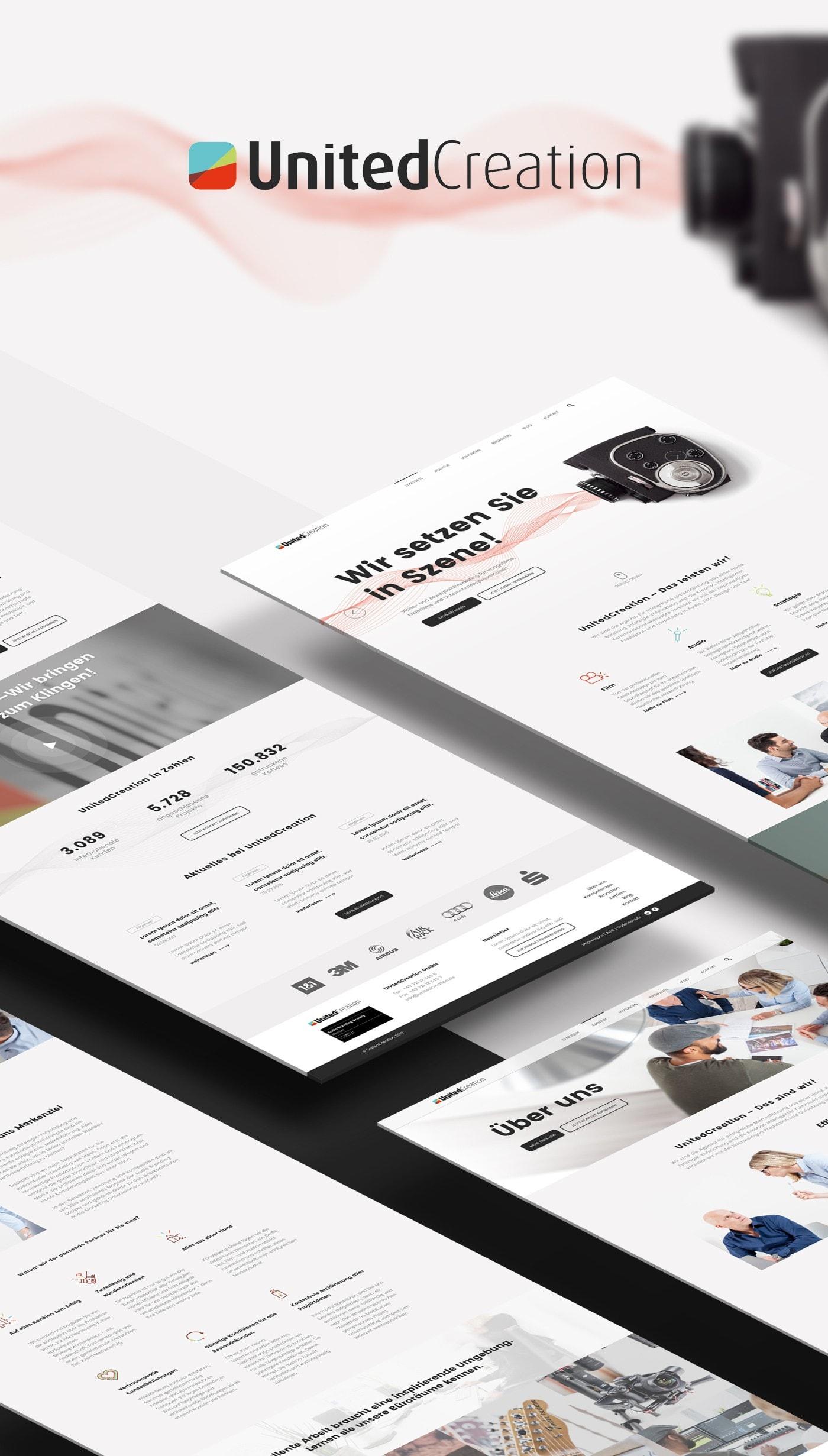 UnitedCreation Webdesign Style